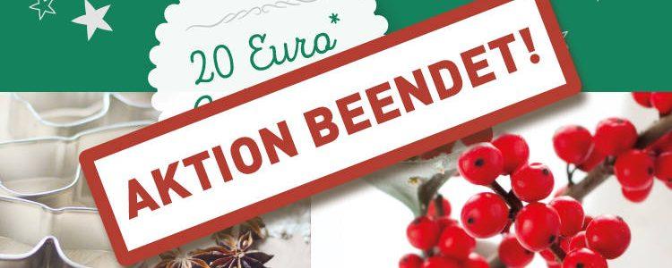 Frohe Weihnachten – 20 Euro Gutschein